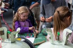 Der er mange aktiviteter for børnene. Foto:Karen Bjerggaard
