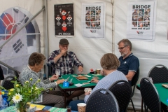 Bridgeklubben lægger kortene på bordet. Foto:Karen Bjerggaard