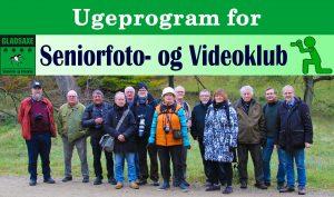 Ugeprogram for Seniorfoto- og Videoklub