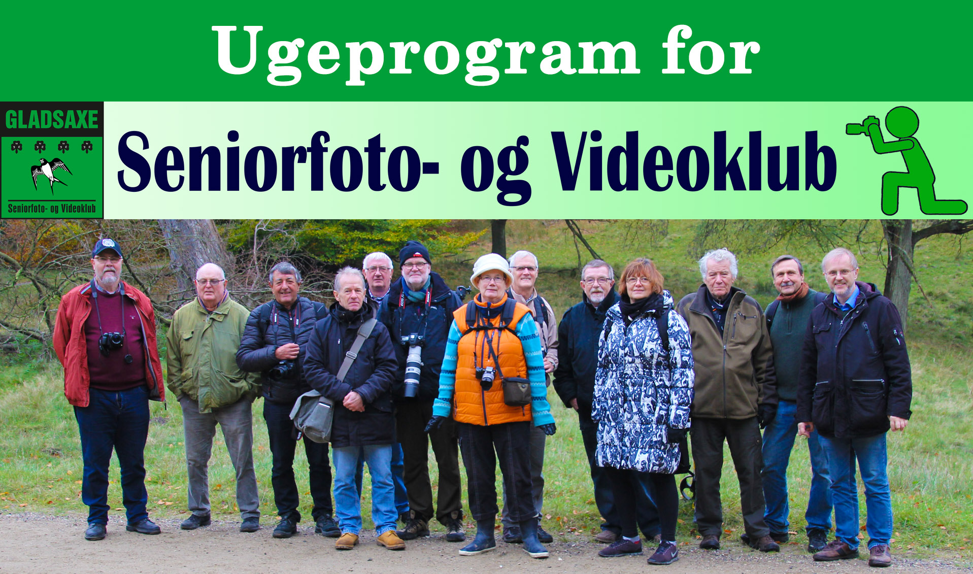 Ugeprogram for Seniorfoto- og Videoklub