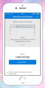 TeamViewer Quicksupport til smartphones og tablets.