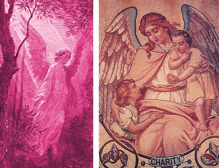Ærkeengleparret Chamuel og Charity, der formidler bl.a. kærlighed og skønhed.