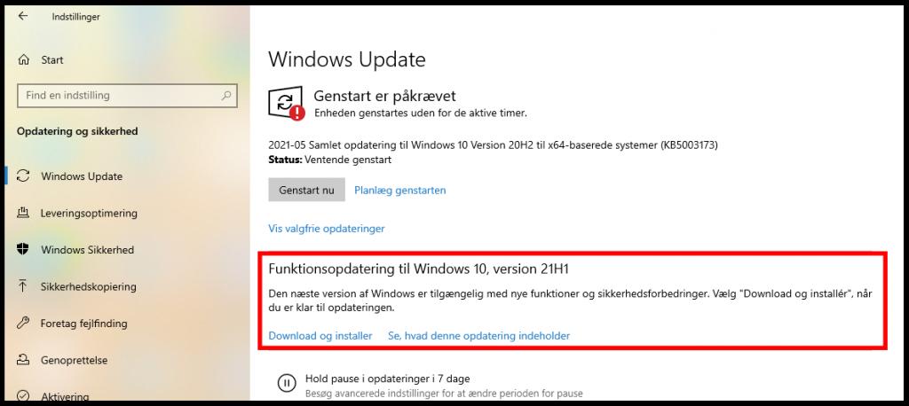 Den nye opgradering vil blive stillet til rådighed via Windows Update.