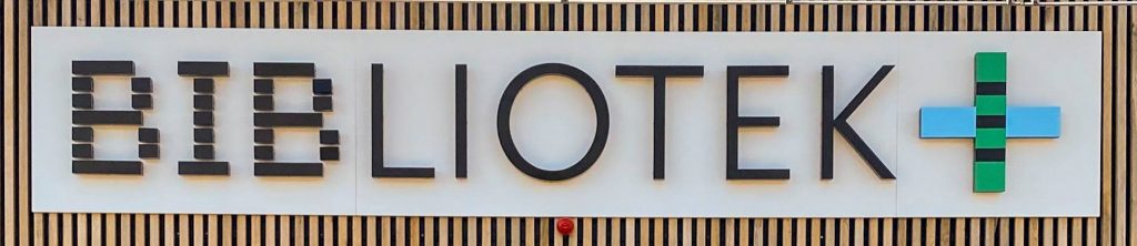 Logoet for Bibliotek+.