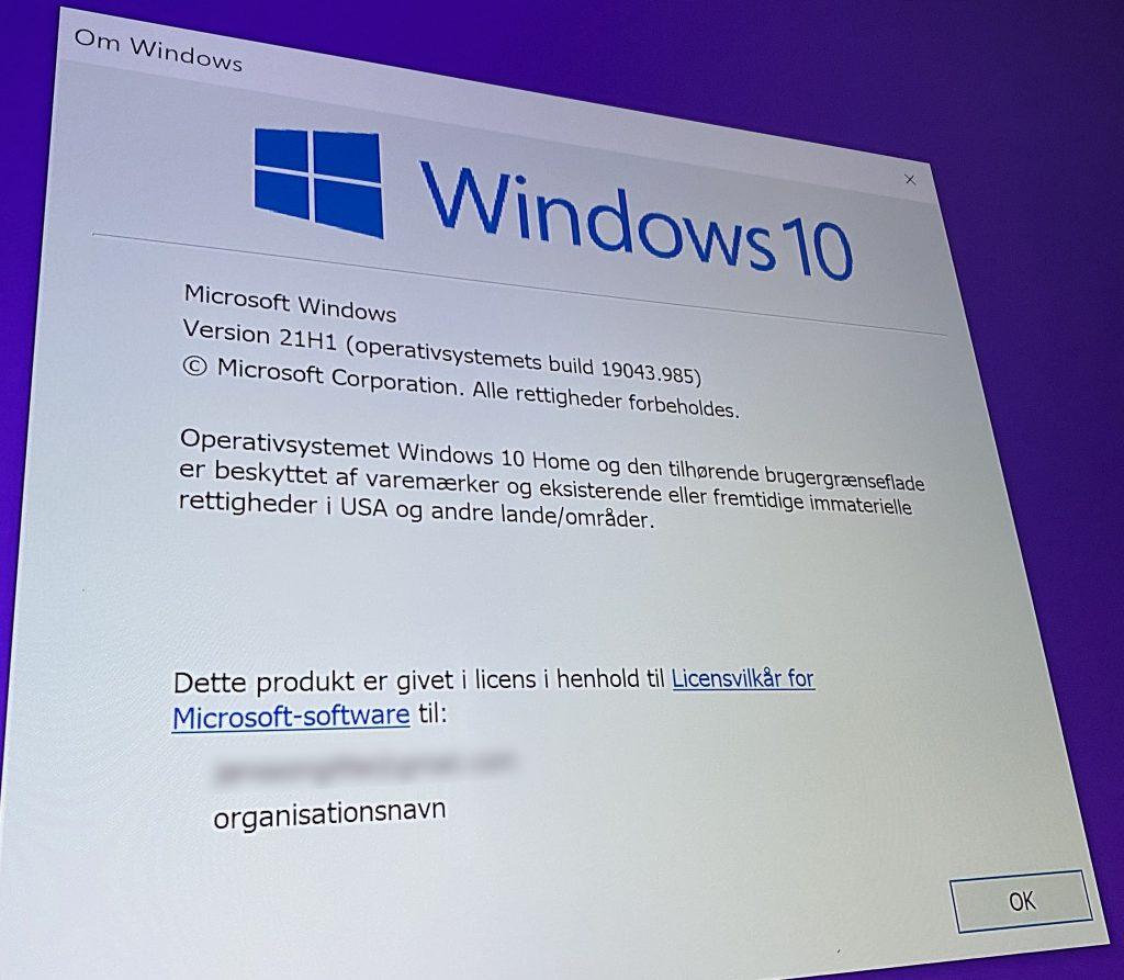 Windows 10-opgraderingen fra foråret 2021.