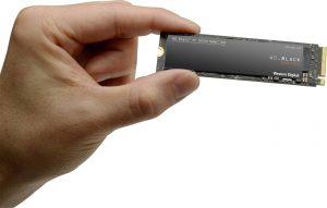 Et SSD-drev i NVMe-format - den hurtigste form for permanent lager til dato.