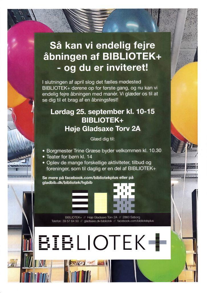 Vær med til Den Store Åbningsfest i Bibliotek+ !